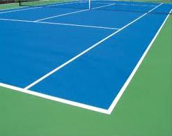 ¿Qué pintura uso para la pista de tenis?